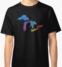 Great Lakes Watercolor #1 Classic T-Shirt