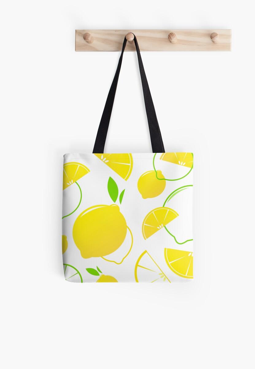 Fresh stylized Fruit : Lemon slices isolated on white by Bee and Glow Illustrations Shop