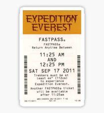 Expedition Everest Sticker