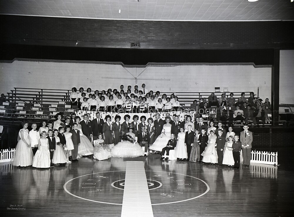 1962, SEDALIA HIGH SCHOOL BASKETBALL KING AND QUEENS by Don A. Howell
