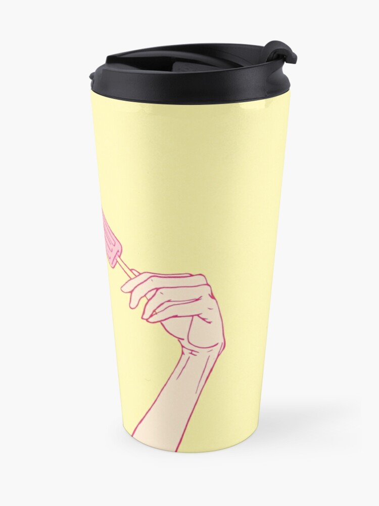 Alternate view of Girl eating an icecream on a hot summer day Travel Mug