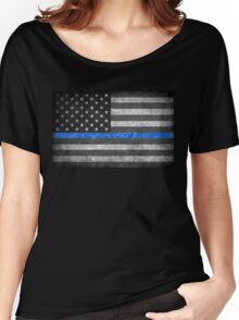 Thin Blue Line  Women's Relaxed Fit T-Shirt