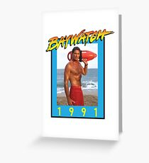 Mr. Baywatch Greeting Card