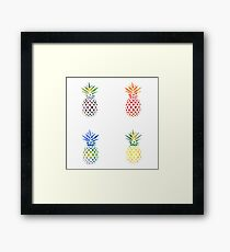 Colorful Pineapple Set Framed Print