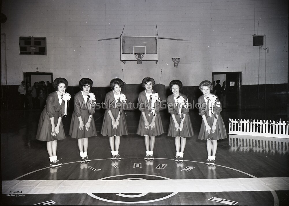 1962, SEDALIA HIGH SCHOOL BASKETBALL CHEERLEADERS by Don A. Howell