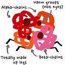 Hemoglobin spider sticker by ErrantScience