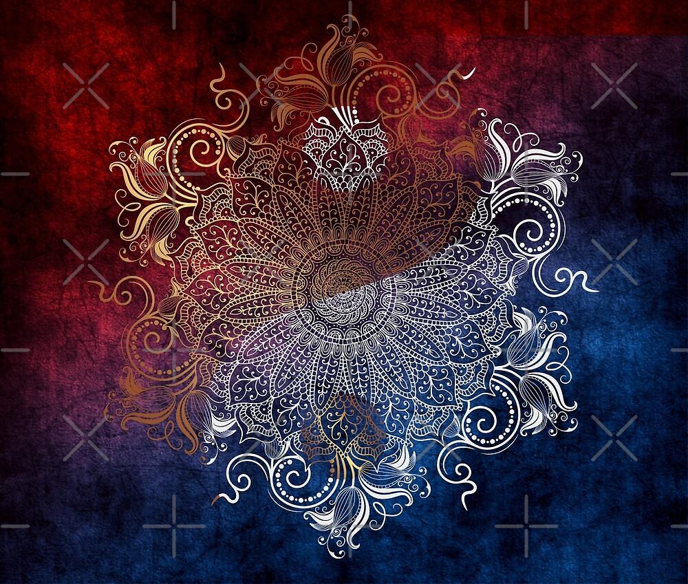 Mandala - Fire & Ice, yang version by aleibanez