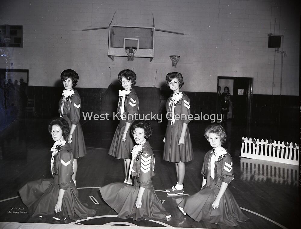 1962, SEDALIA HIGH SCHOOL BASKETBALL CHEERLEADERS by Don A. Howell