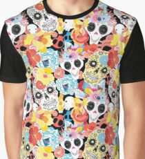 Cool pattern funny skulls Graphic T-Shirt