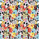 Cool pattern funny skulls by Tanor