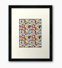 Cool pattern funny skulls Framed Print