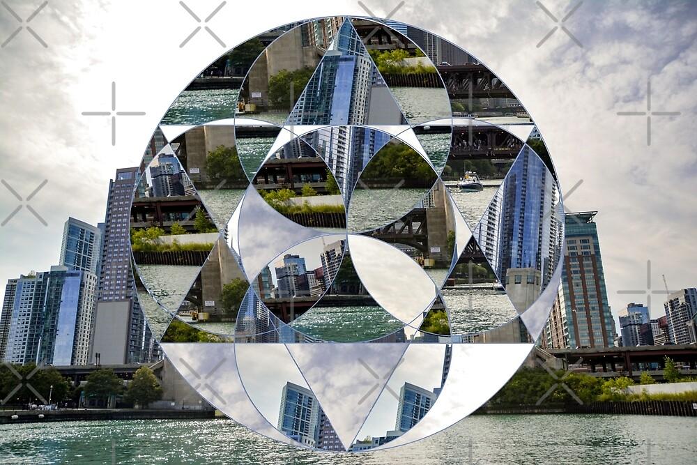 Geometric Chicago Skyline by jenbucheli