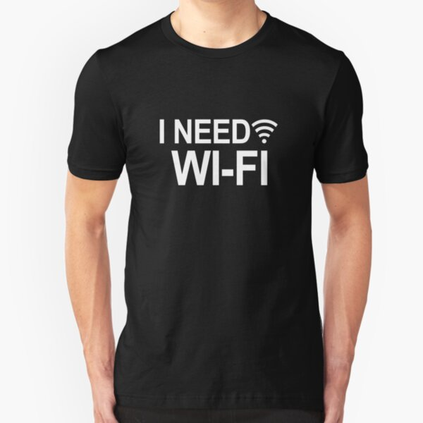 Mujer Gracioso Camiseta Novedad Broma Eslogan Top señoras el hogar es donde se conecta Wifi