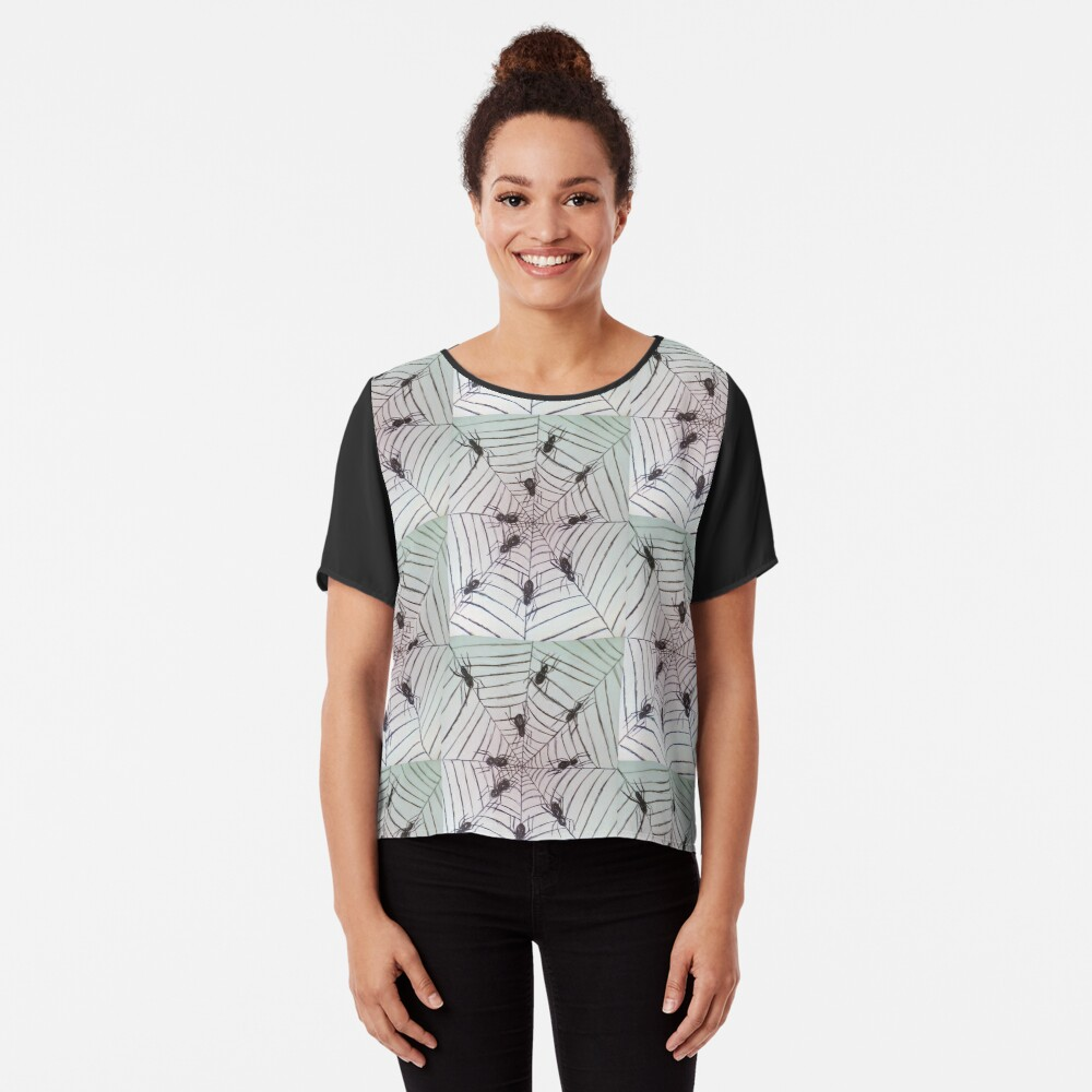 Spider web pattern Women's Chiffon Top Front