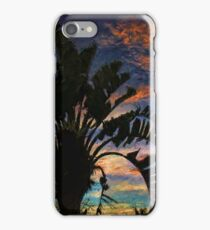 Palm Silhouette Sunset 2 iPhone Case/Skin