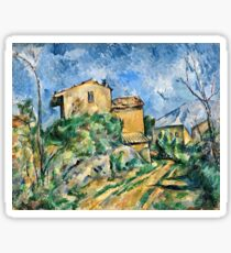 Paul Cezanne - Maison Maria with a View of Chateau Noir ( 1895)  Sticker