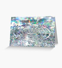 Colorful background with ripples and drops Greeting Card