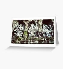 Gunung Kawi Greeting Card