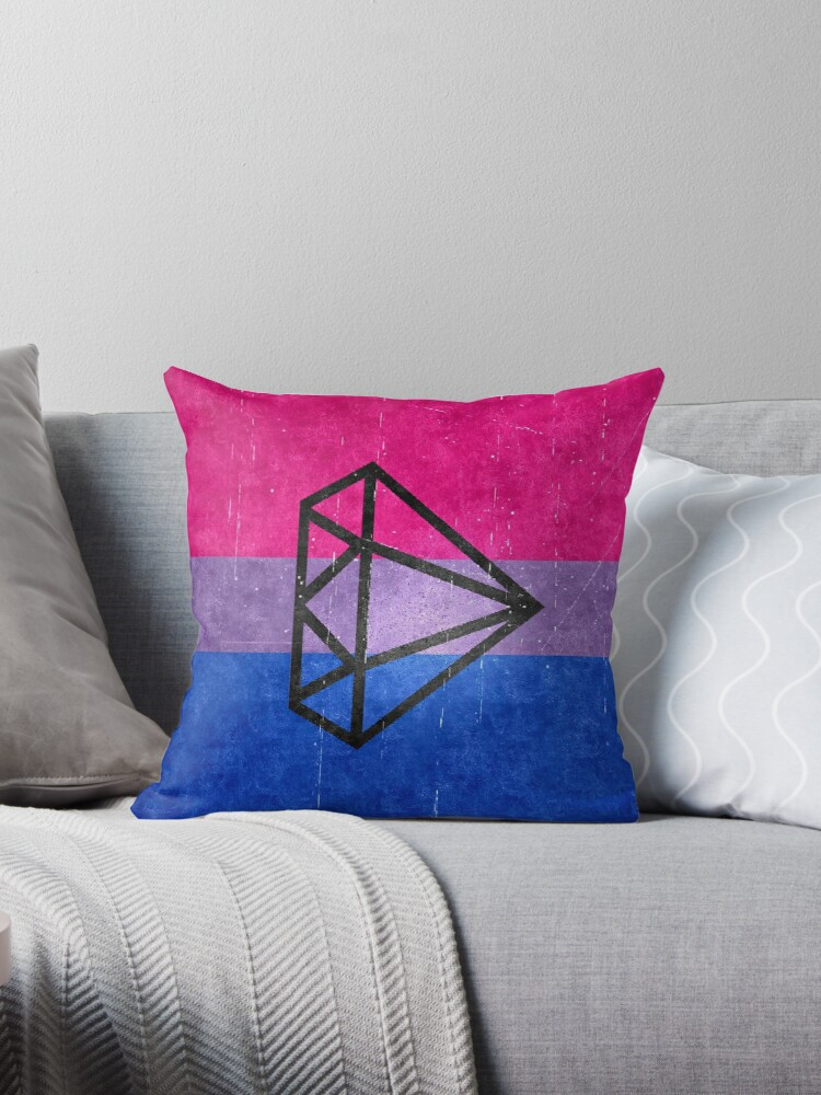 Bisexual Flag with diamond by Nirvana Wright