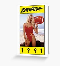 Baywatch-1991 Greeting Card