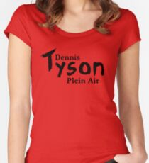 Dennis Tyson Plein Air Black Women's Fitted Scoop T-Shirt