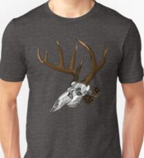 Whitetail Buck Skull T-Shirt