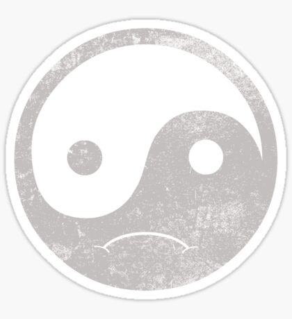 yin yang smiley Sticker