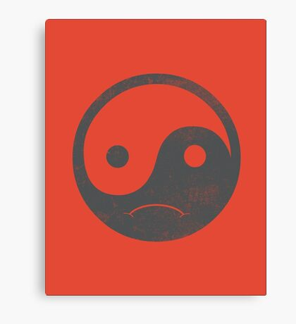 yin yang smiley Canvas Print