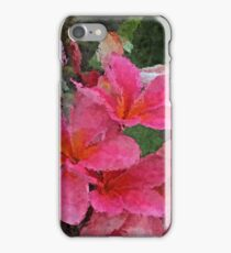Painted Pink Plumeria iPhone Case/Skin