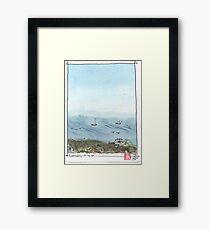 View fromSteep Ravine  Framed Print