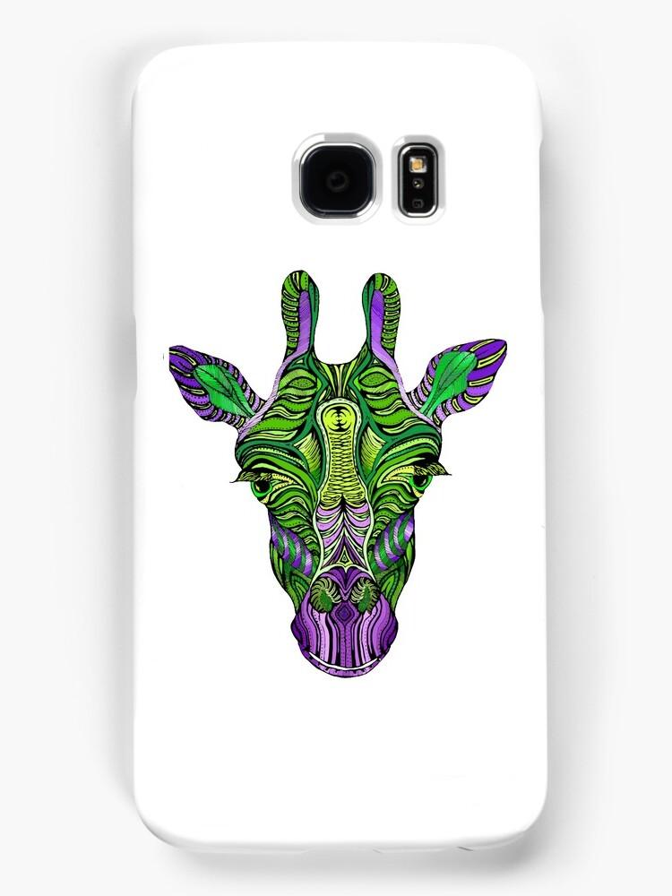 Psychedelic Giraffe by njhallart