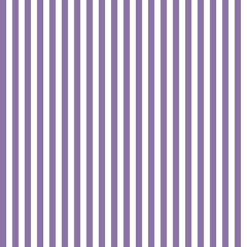 Twilight Violet and White Stripes Pattern by CircusValley
