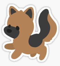 Chibi German Shepherd Sticker