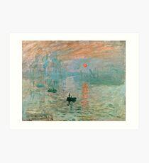 Claude Monet - Impression Sunrise  Art Print