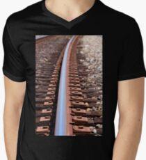 train track Men's V-Neck T-Shirt