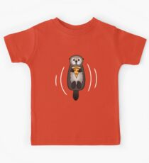Sea Otter with Pizza Kids Clothes