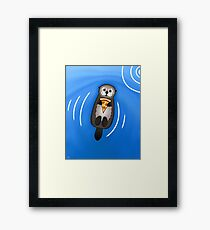 Sea Otter with Pizza Framed Print