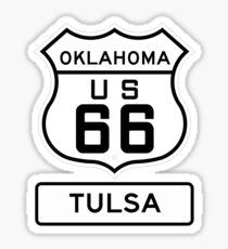 Historic Route 66 - The Mother Road - Tulsa Oklahoma Sticker