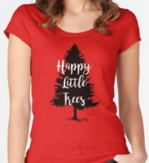 Happy Little Trees (Bob Ross) Women's Fitted Scoop T-Shirt
