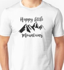 Happy Little Mountains (Bob Ross) Unisex T-Shirt