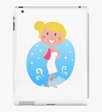 Cute blond woman in winter iPad Case/Skin