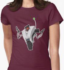 Portal Claptrap Sticker Womens Fitted T-Shirt