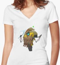 Wizard Claptrap Sticker Women's Fitted V-Neck T-Shirt