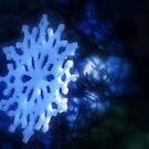 snowflake in blue 4 by Dawna Morton
