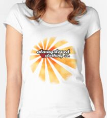 Retro Sunset Women's Fitted Scoop T-Shirt