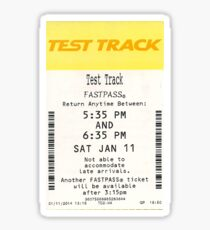 Test Track Sticker