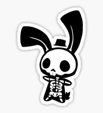 Chui Bunny's Skeleton in a Tiny Top Hat Sticker