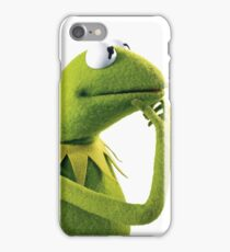 Kermit Contemplating, an aesthetic iPhone Case/Skin
