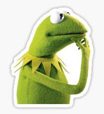 Kermit Contemplating, an aesthetic Sticker