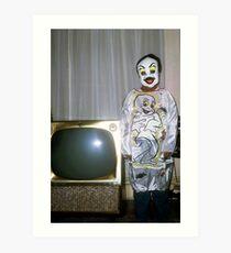 1960s Found Photo Halloween Card - Casper The Friendly Ghost Art Print